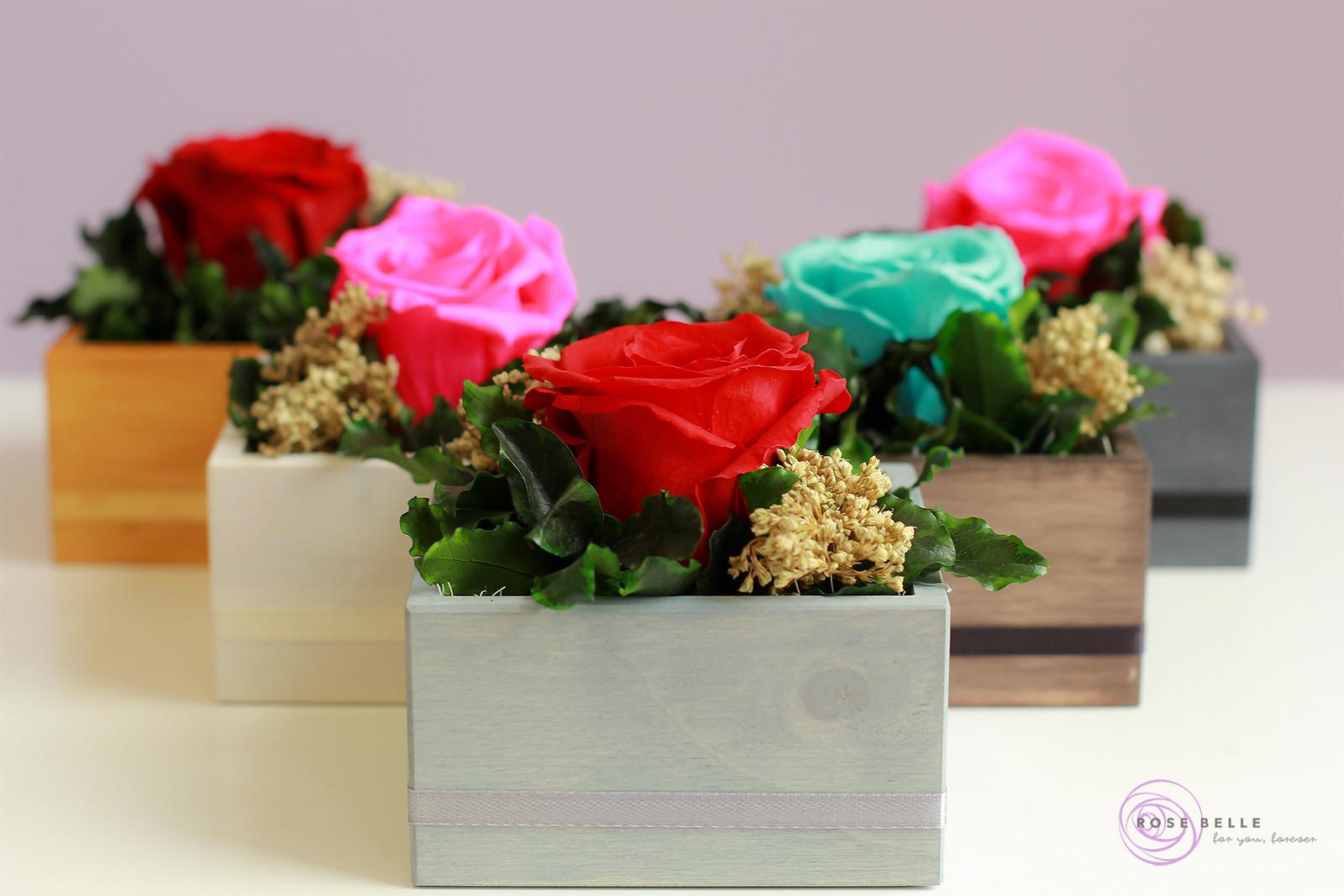 Kompozycje z różami stabilizowanymi