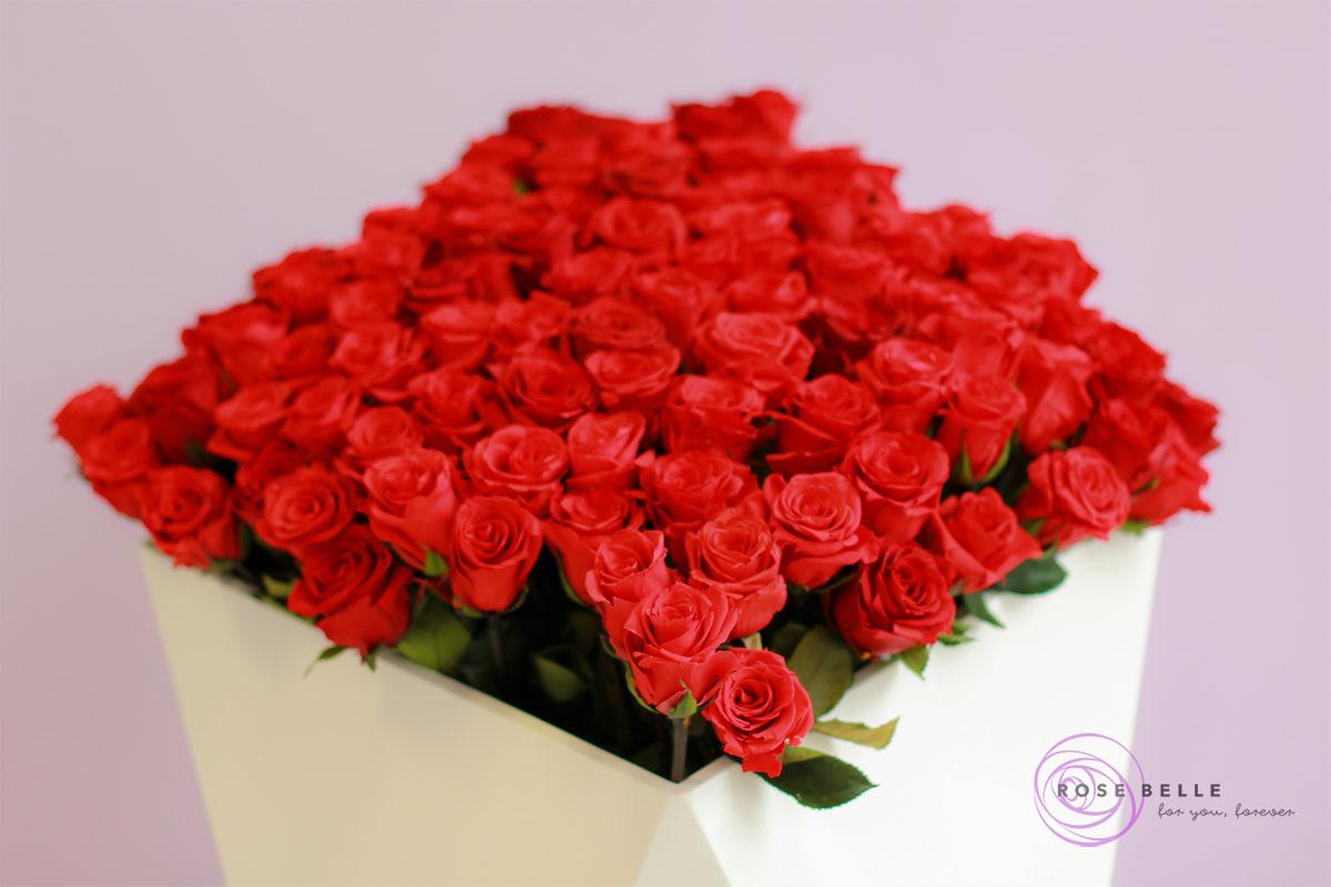 bukiet czerwonych róż od Rose Belle