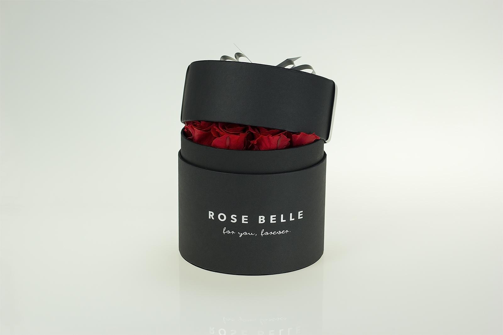 rose belle box geschenkbox mit konservierten rosen. Black Bedroom Furniture Sets. Home Design Ideas
